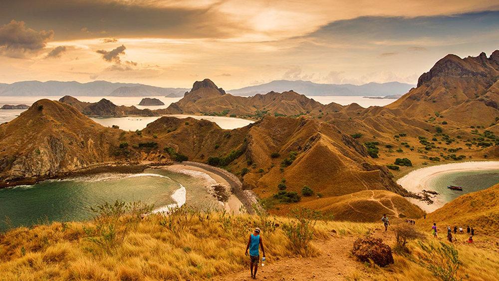 Padar island with amazing view