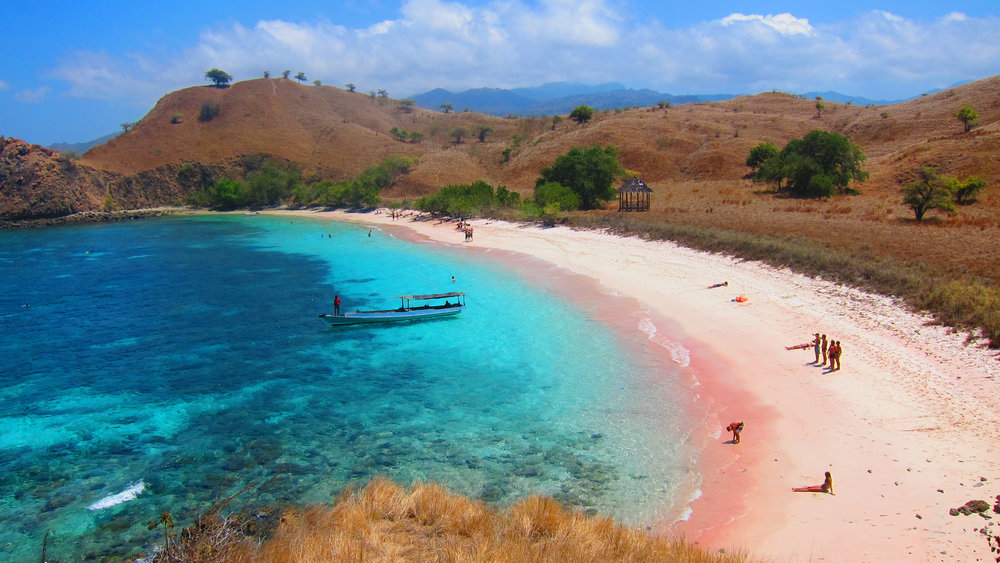 Pink Beach is one of the tourist attractions that you must visit